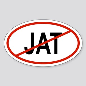 JAT Oval Sticker