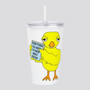 History Book Chick Acrylic Double-wall Tumbler