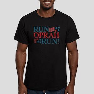 Run Oprah Run! Men's Fitted T-Shirt (dark)