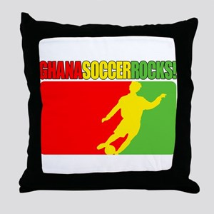 Ghana Soccer Rocks! Throw Pillow