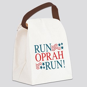 Run Oprah Run! Canvas Lunch Bag