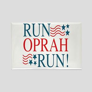Run Oprah Run! Rectangle Magnet