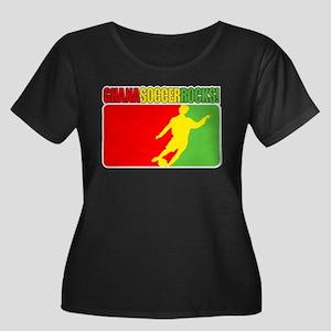 Ghana Soccer Rocks! Women's Plus Size Scoop Neck D