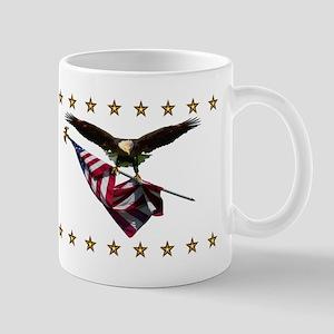 Eagle with Flag and Armed Eagle Mug