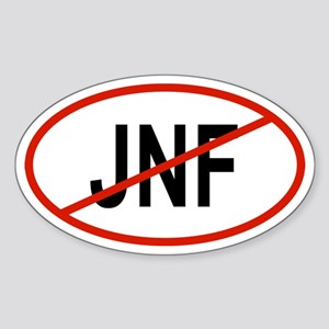 JNF Oval Sticker