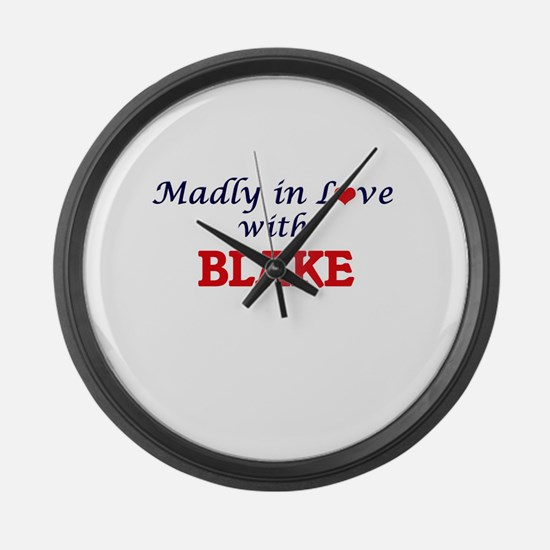 Madly in love with Blake Large Wall Clock