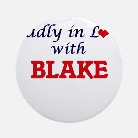 Madly in love with Blake Round Ornament