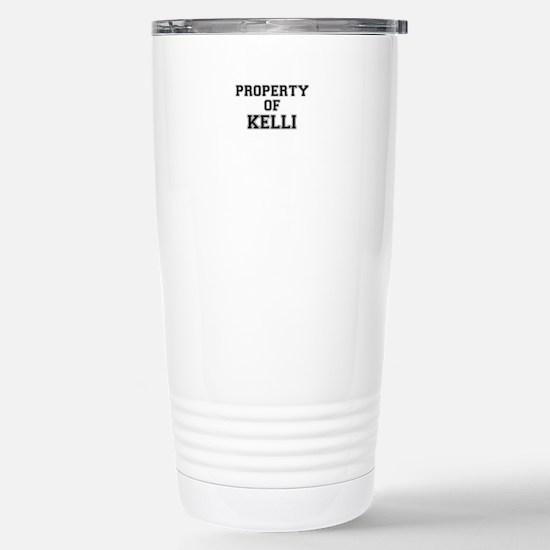 Property of KELLI Stainless Steel Travel Mug