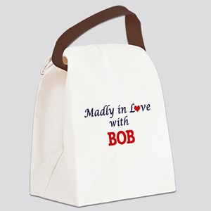 Madly in love with Bob Canvas Lunch Bag