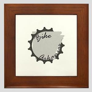 Bike Arkansas Framed Tile
