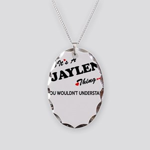 JAYLEN thing, you wouldn't und Necklace Oval Charm