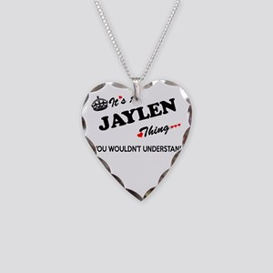 JAYLEN thing, you wouldn't un Necklace Heart Charm