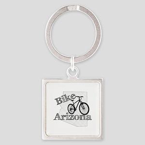 Bike Arizona Square Keychain