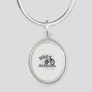 Bike Arizona Silver Oval Necklace