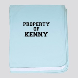 Property of KENNY baby blanket