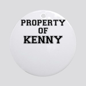 Property of KENNY Round Ornament