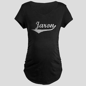 Jaron Vintage (Silver) Maternity Dark T-Shirt