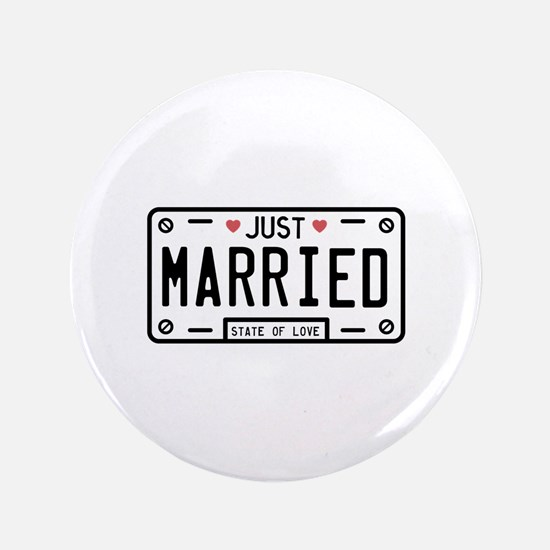 "Just Married 3.5"" Button (100 pack)"