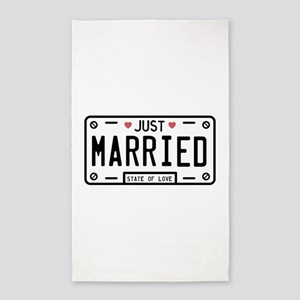 Just Married Area Rug
