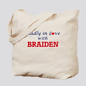 Madly in love with Braiden Tote Bag