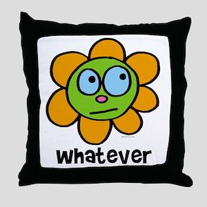 Whatever flower Throw Pillow
