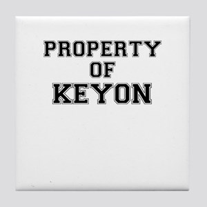 Property of KEYON Tile Coaster
