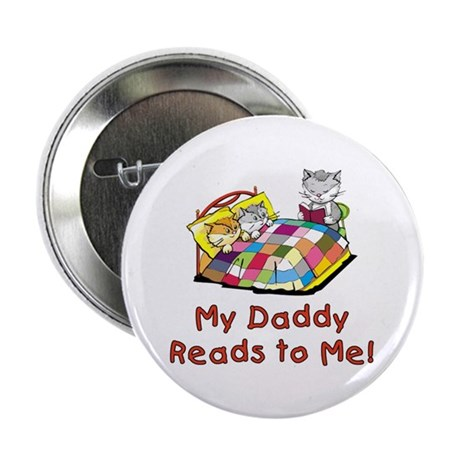 """Daddy Reads 2.25"""" Button (10 pack)"""