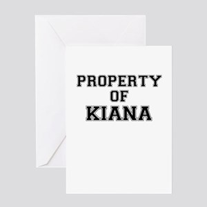 Property of KIANA Greeting Cards
