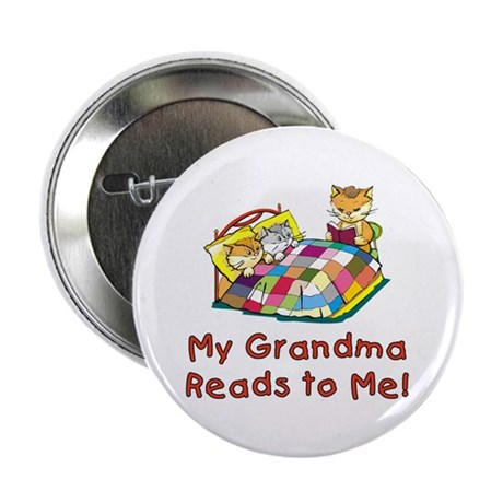 "Grandpa Reads 2.25"" Button (10 pack)"