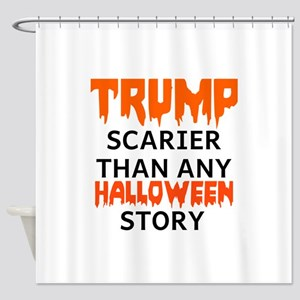Trump Halloween Shower Curtain