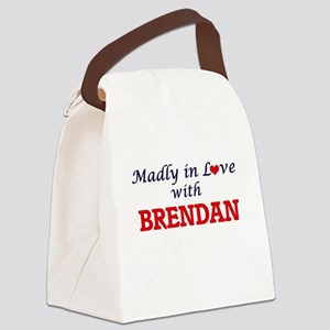 Madly in love with Brendan Canvas Lunch Bag