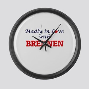 Madly in love with Brennen Large Wall Clock