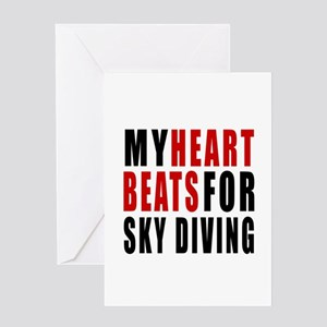 My Hear Beats For Sky Diving Greeting Card