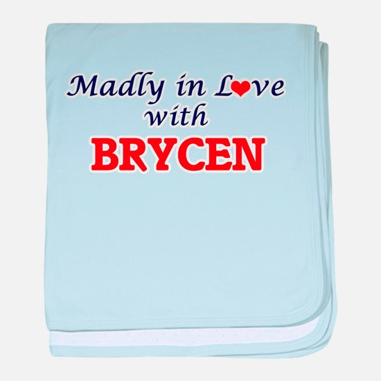 Madly in love with Brycen baby blanket