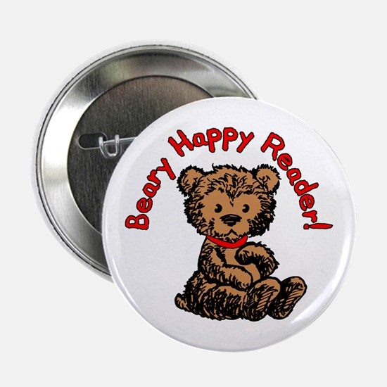 """Beary Happy 2.25"""" Button"""