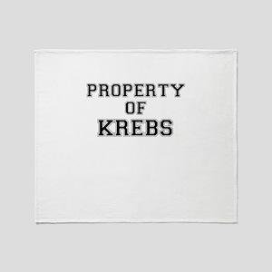 Property of KREBS Throw Blanket