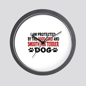 Protected By Smooth Fox Terrier Dog Wall Clock