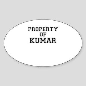 Property of KUMAR Sticker