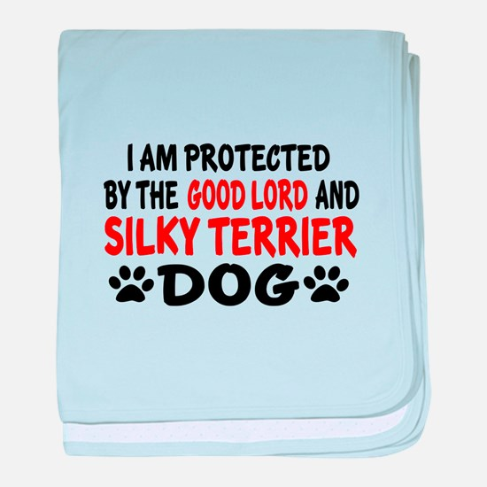 Protected By Silky terrier Dog baby blanket