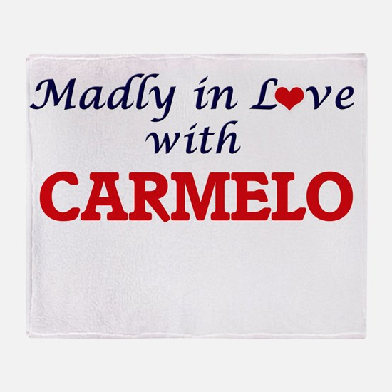 Madly in love with Carmelo Throw Blanket