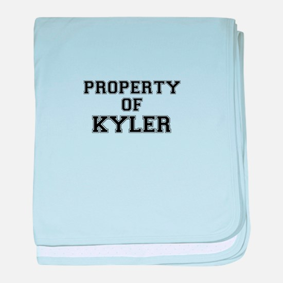 Property of KYLER baby blanket