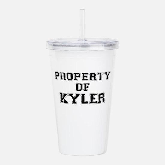Property of KYLER Acrylic Double-wall Tumbler