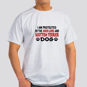 Protected By Scottish Terrier Dog Light T-Shirt