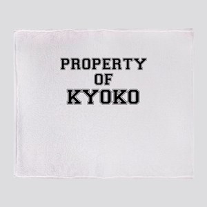 Property of KYOKO Throw Blanket