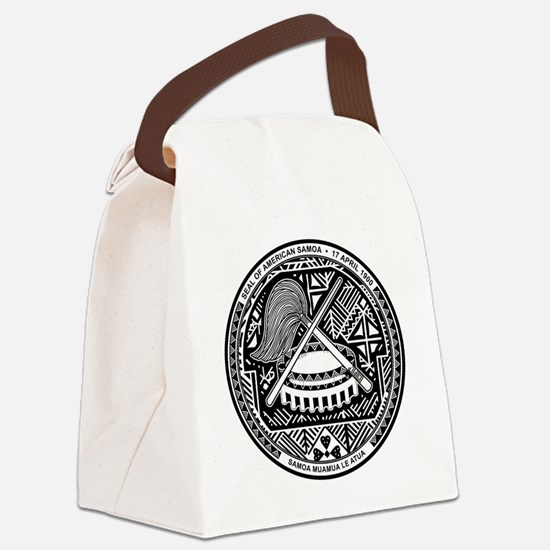 Cute Amelika samoa Canvas Lunch Bag