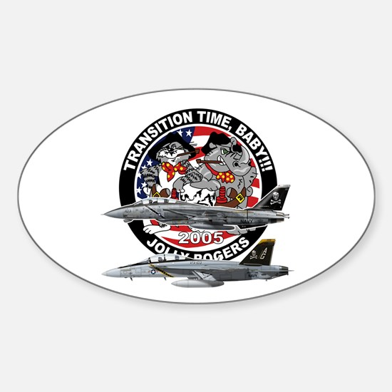 F-14 Jolly Rogers Oval Decal