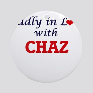 Madly in love with Chaz Round Ornament