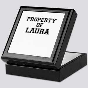 Property of LAURA Keepsake Box