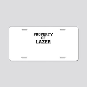 Property of LAZER Aluminum License Plate