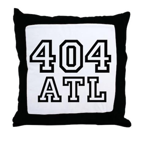 404 Atlanta ATL 10 Throw Pillow